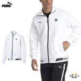 Puma BMW 男款 白色 運動外套 立領 休閒 慢跑 溫暖 舒適 聯名款 外套 57664002