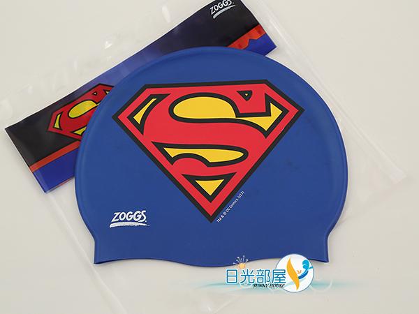 *日光部屋* ZOGGS (公司貨)/382407-DC正義聯盟SuperMan超人 舒適矽膠泳帽