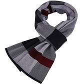 針織圍巾-羊毛休閒格子提花男披肩3色73wi68【時尚巴黎】