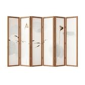 屏風隔斷客廳折疊移動簡約現代實木簡易酒店裝飾新中式辦公室折屏 莎拉嘿呦