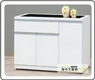 {{ 海中天休閒傢俱廣場 }} G-35 摩登時尚 餐廳系列 703-4 貝拉白色3.7尺碗碟櫃(下座)