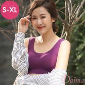 親膚無痕(S~XL) 零著感手捧韻動內衣(紫色)【黛瑪Daima】9173