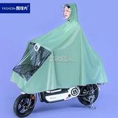 電動車雨衣女款單人自行車學生成人黃色可愛小號韓國騎行防雨雨披 快速出貨