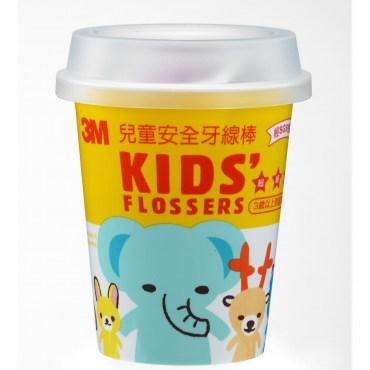 3M 兒童安全牙線棒(杯裝)