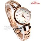 RELAX TIME RT-71-7 小資の微甜錶款 不銹鋼女錶 藍寶石水晶 防水手錶 白貝殼x玫瑰金 RT-71-7