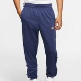 NIKE SPORTSWEAR NSW 深藍 排扣 刺繡 長棉褲 男(布魯克林) BV2628-410