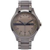 A/X ARMANI EXCHANGE 灰色時尚手錶(AX2194)-淺灰色面/46mm