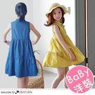 女童夏季牛仔波西米亞風背心裙 洋裝 110-150