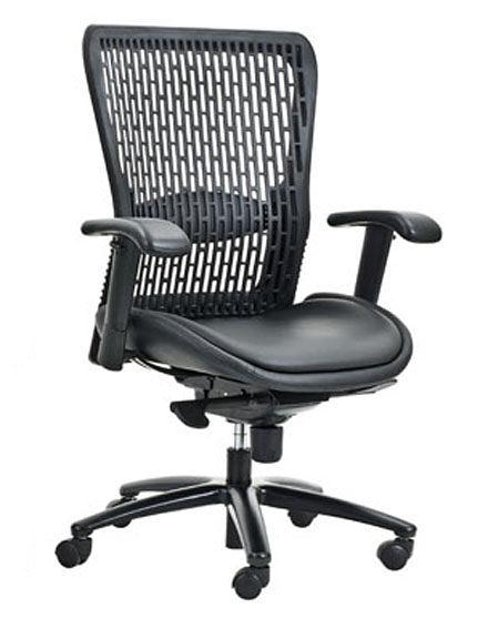 HM-M-02STG    辦公椅 / 電腦椅 / 洽談椅-低背-軟塑膠材質  彈性尼龍網