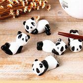 新款日式陶瓷熊貓筷子托筷子架創意多款形大熊貓桌面筆托筷托 LannaS