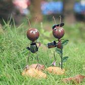創意可愛鐵藝螞蟻小擺件家居裝飾品客廳兒童房間辦公室電視柜擺設WD 初語生活館
