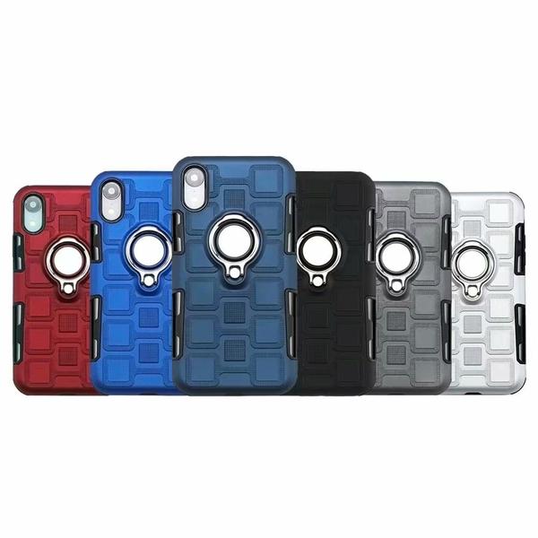 【SZ13】個性指環支架二合一防摔殼 iPhone Xs手機殼 iPhone XR iPhone XS Max iphone 8 plus iphone 7手機殼