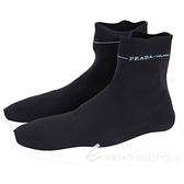 PRADA Etiquette 標籤彈性面料襪套運動鞋(女款/黑色) 1910001-01