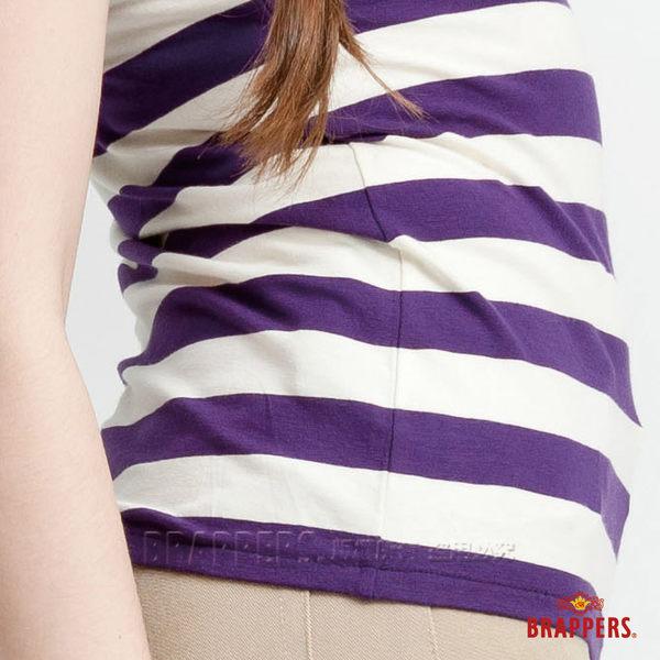 BRAPPERS 女款 細帶綁脖背心-紫白條
