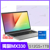 華碩 ASUS X513EP 幻彩白 512G SSD+1TB雙碟升級版【i7 1165G7/15.6吋/MX330/四核/intel/筆電/Buy3c奇展】Vivobook X513