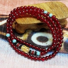 紅石榴佛珠手串/佛珠項鍊(附開光證明)