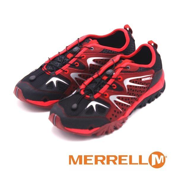 MERRELL 多功能健走鞋 CAPRA RAPID 男鞋-暗紅