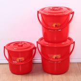 加厚時尚手提塑料水桶LVV4216【KIKIKOKO】
