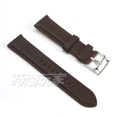 22mm錶帶 FOSSIL 真皮錶帶 皮革 咖啡棕x銀 B22-ME3061