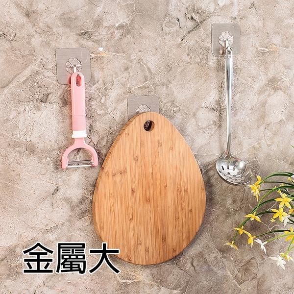 泰博思 金屬色免釘貼面掛勾 大款 可重複使用 廚房 浴室 玻璃 磁磚【F0206-T】