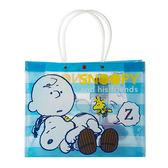 《Sanrio》SNOOPY半透明防水提袋(條紋好朋友)_212458
