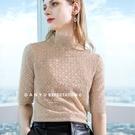 蕾絲中袖內搭半高領時尚上衣(五色S-2XL可選)/設計家 AL301870