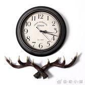 復古靜音掛鐘北歐家用藝術時鐘臥室客廳裝飾創意簡約鐘錶 IGO 優家小鋪
