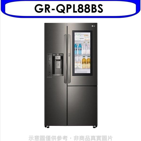 《結帳打95折》LG樂金【GR-QPL88BS】761公升敲敲看門中門WIFI製冰門外取水星夜黑冰箱