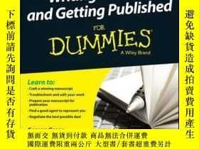 二手書博民逛書店Writing罕見a Novel and Getting Published For Dummies UK, 2n