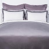 HOLA (組)雅緻天絲素色雙人床包組 蒼灰