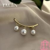 時尚人造珍珠胸針高檔別針裝飾西裝女創意氣質【匯美優品】