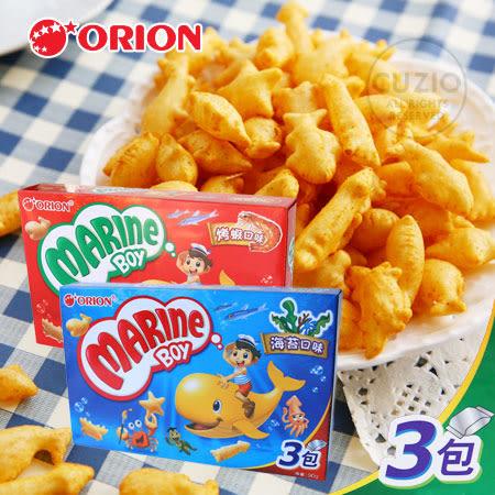 韓國 ORION好麗友 好多魚餅乾 (3入) 90g 烤蝦 海苔 魚形造型 魚餅乾 小魚餅乾