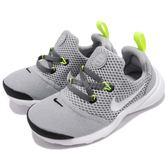 Nike 休閒慢跑鞋 Presto Fly TD 灰 白 低筒 免綁鞋帶 運動鞋 童鞋 小童鞋【PUMP306】 AA2227-009