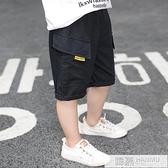 男童工裝短褲夏薄款兒童休閒洋氣五分褲男孩寬鬆外穿中褲夏裝潮褲 夏季新品