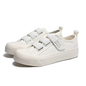 KANGOL 餅乾鞋 白 帆布 鬆緊 黏帶 帆布鞋 休閒 女(布魯克林) 6952200300