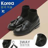 靴.3way毛毛流蘇襪套靴-FM時尚美鞋-韓國精選.MICRO