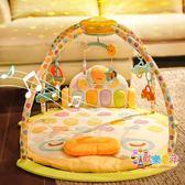 谷雨嬰兒健身架器腳踏鋼琴0-3-6個月1歲新生兒寶寶早教音樂玩具 XW