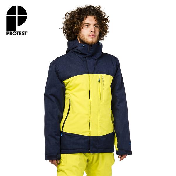 PROTEST 男 機能防水保暖外套 (電檸色) BENEFIT SNOWJACKET