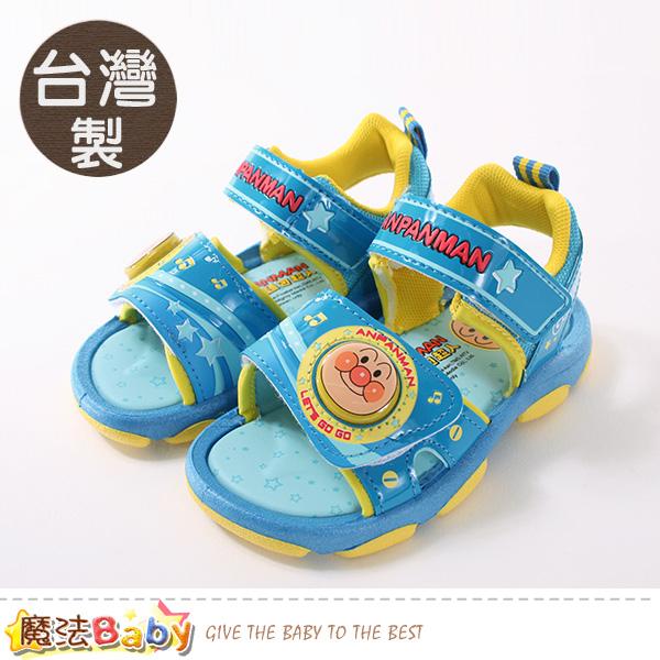 男童鞋 台灣製麵包超人授權正版閃燈涼鞋 魔法Baby