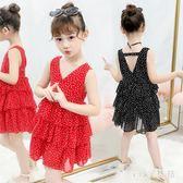 女童連身裙夏裝10歲小女孩無袖洋裝 超洋氣夏天8韓版兒童裝公主裙子 XN2554【VIKI菈菈】