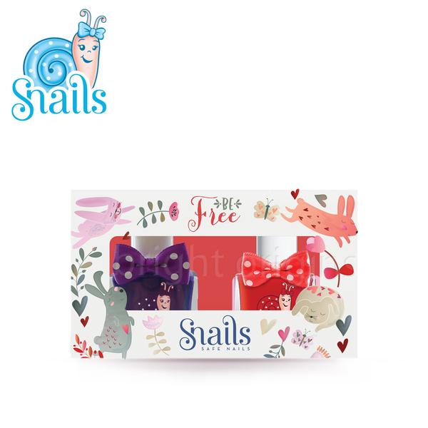 Snails 小小蝸牛水性兒童指甲油禮包系列-兔子款(兩瓶組)