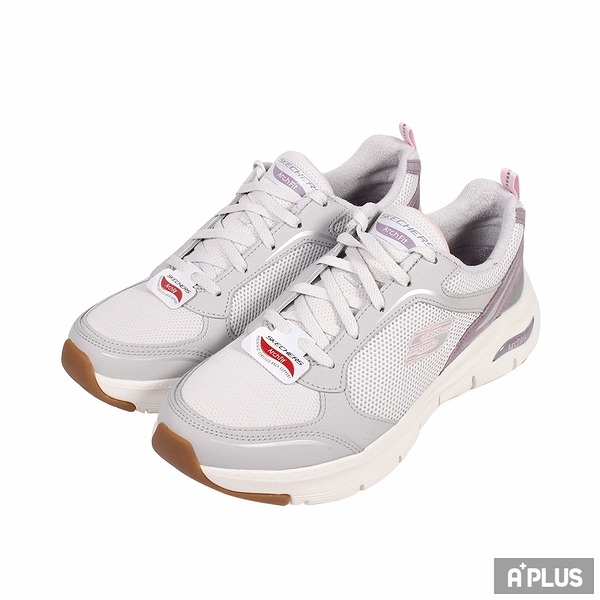 SKECHERS 女健走鞋 ARCH FIT 白灰紫-149413LGPR