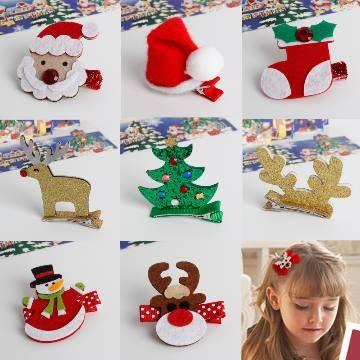 UNICO 兒童 繽紛聖誕系列髮夾-八入組