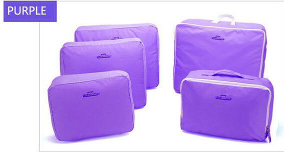 ♚MY COLOR♚韓式旅行 五件組 旅行收納袋 行李箱壓縮袋旅行箱 包中包旅用收納袋 收納行李袋【N01】