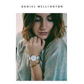 DW手錶 28mm玫瑰金框 Classic Petite 純真白真皮皮革  - Daniel Wellington