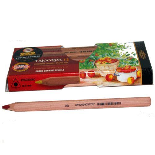 KOH-I-NOR高質感原木12色大三角油性鉛筆*3152推薦良品