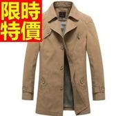 風衣外套-保暖舒適簡約長版男大衣3色59r13【巴黎精品】