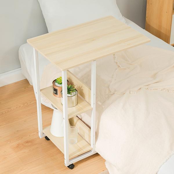 威瑪索 多功能電腦桌/床邊桌-附層板收納-楓櫻木色 寬60X深40X高75cm