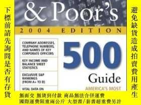二手書博民逛書店Standard罕見& Poor s 500 Guide 2004 EditionY307751 Standa
