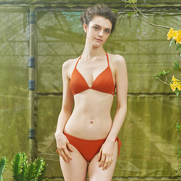 LeRêveParis |AIRise 法式空氣美型比基尼泳衣|-沙橘色